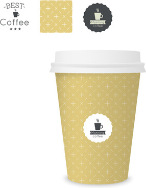 best coffee paper cup template vector