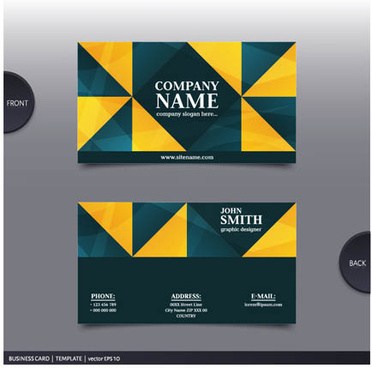 best company business cards vector design