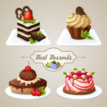 best desserts vector icons graphics