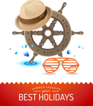 best holidays poster creative vector
