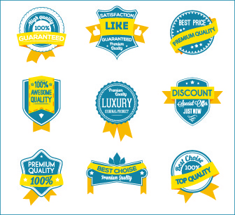 best label with ribbon vintage style vector