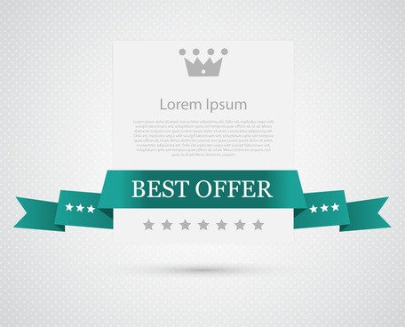 best offer ribbon banner