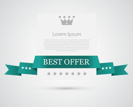 best offer ribbon banner