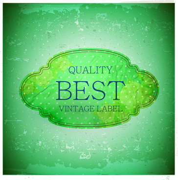 best quality vintage label