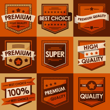 best retro sales labels vector set
