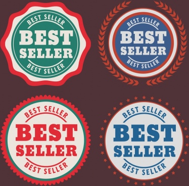 best seller stamps sets colored flat circle design