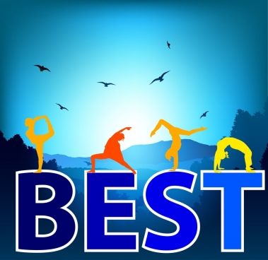 best skills background human silhouette words decoration