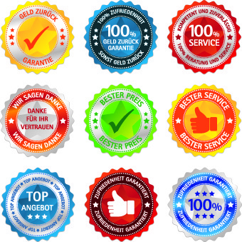 best sticker label vector