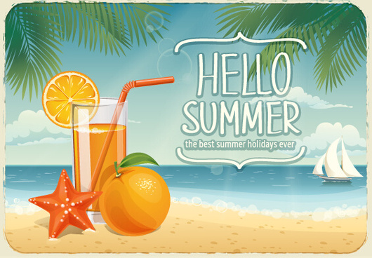 best summer holiday beach vector background