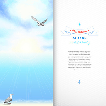 best summer voyage travel vector banner