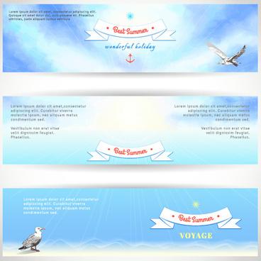best summer voyage travel vector banner