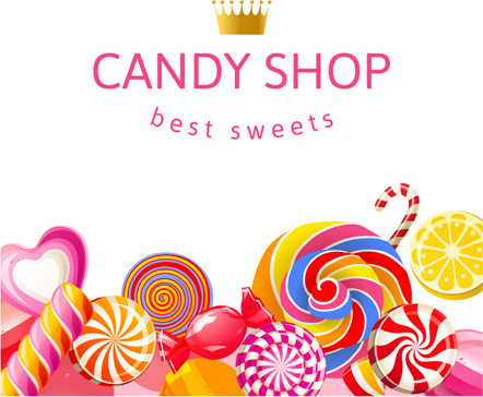 best sweets design background vector