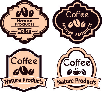 best vintage coffee labels vector