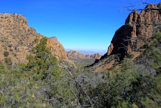 between two peaks at big bend national park texas