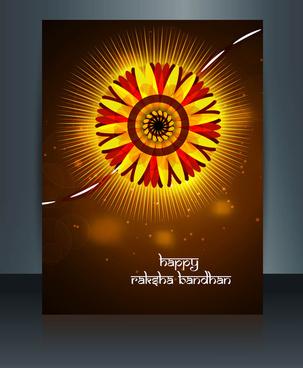 beutiful template celebration colorful raksha bandhan festival illustration vector