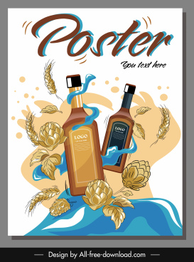 beverage advertising poster classical dynamic design