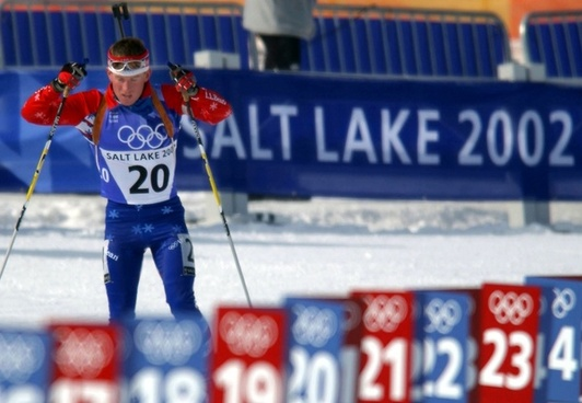 biathlon athlete olympics