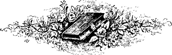 Bible Among Roses clip art