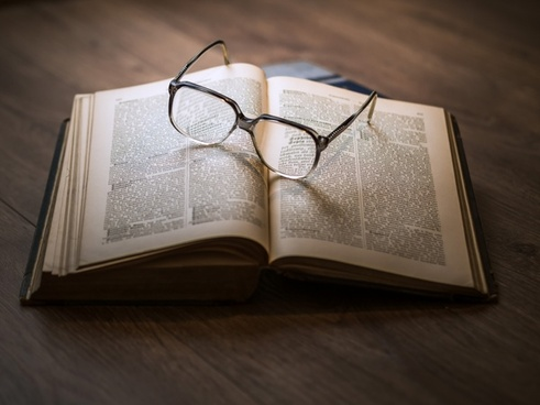 bible book cover education eyeglasses knowledge
