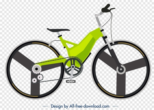 bicycle advertising background green modern design