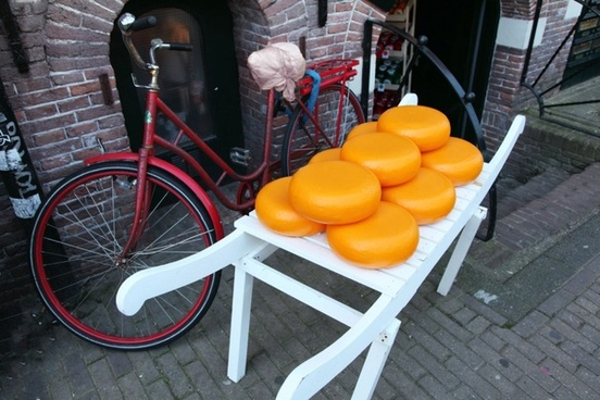 bicycle and cheese