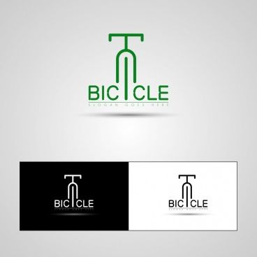 bicycle logotypes flat symbol isolation