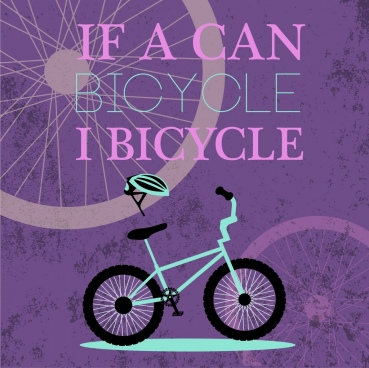 bicycle promotion banner violet grunge decoration