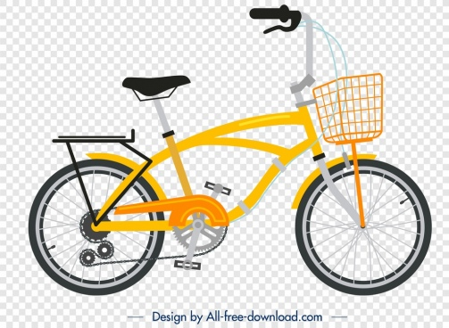 bicycle template yellow modern design