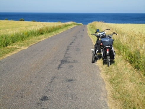 bicycles way sea