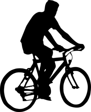 Bicyclist Silhouette clip art