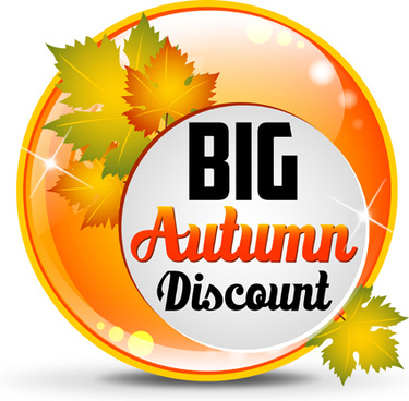 big autumn discounts shiny background