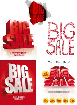 big bargain font design vector