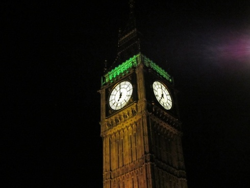 big ben night london