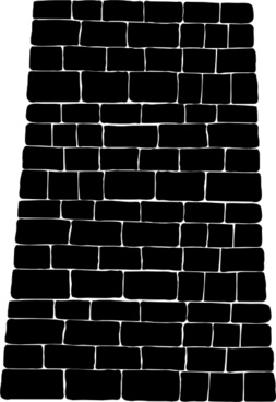 Big Brick Black Wall clip art