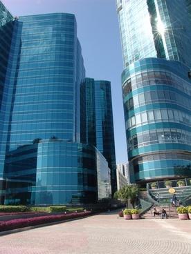 big city facades view