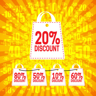big discount shopping bag banner