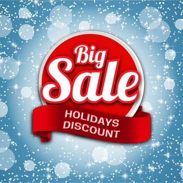 big sale banner on sparkle bright background