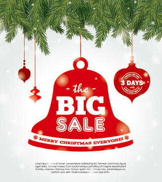 big sale christmas creative background vector