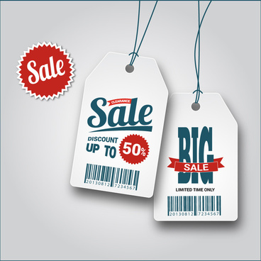 big sale discount hange tags