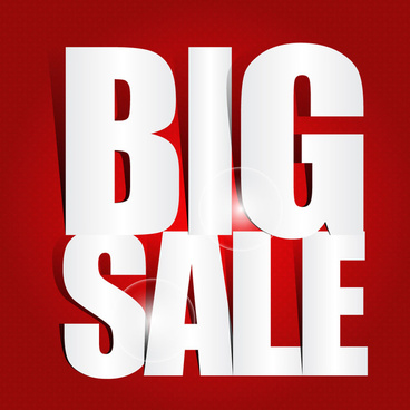 big sale poster with cut out letters
