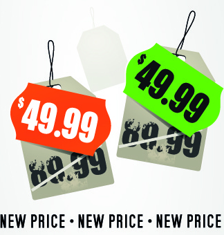 big sale price tag creative vector