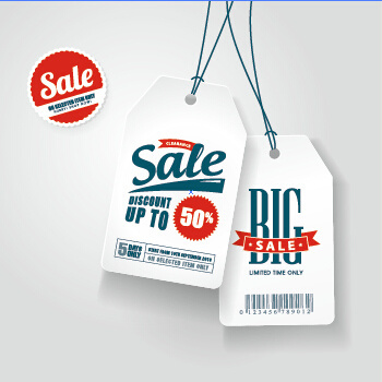big sale tags creative design vector