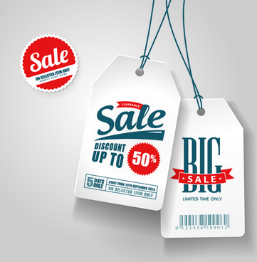 big sale tags creative vector
