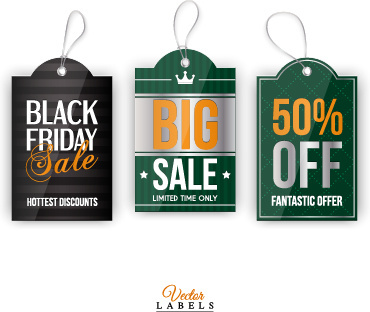 big sale vintage tags vector