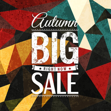 big sale with polygonal background vector
