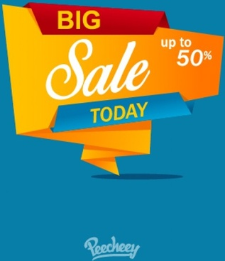 big sale yellow banner