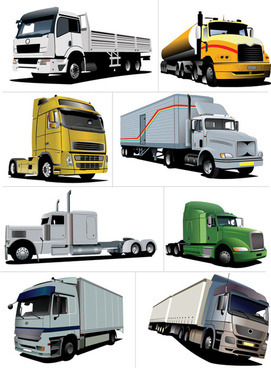 big trucks creative vector