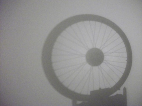 bike tire shadow