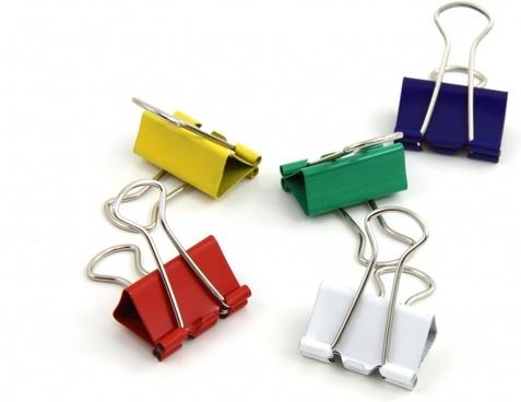binder blue clips