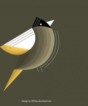 bird background sparrow icon colorful classical flat design